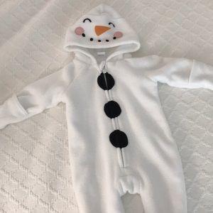 Snowman zippered onesie